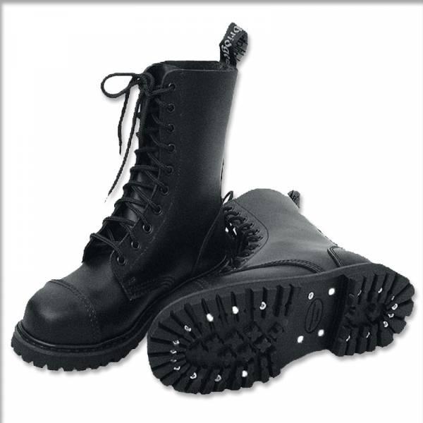 10 Loch, Boots / Stiefel schwarz