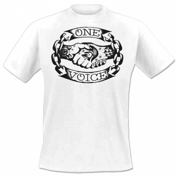 One Voice - Logo, T-Shirt weiss