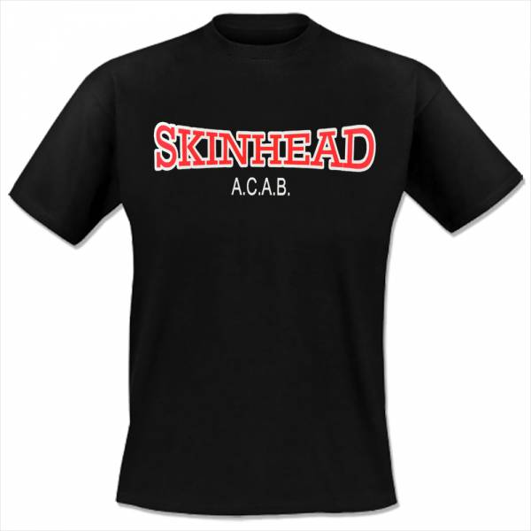 Skinhead - A.C.A.B., T-Shirt schwarz