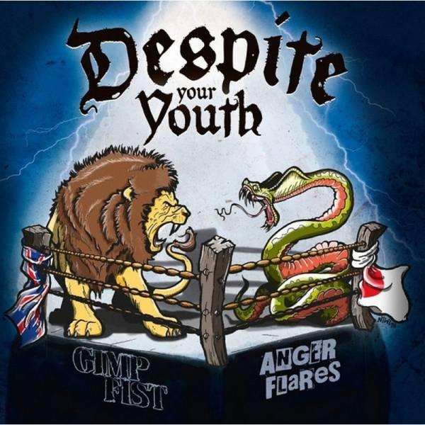 Gimp Fist / Anger Flares - Despite your Youth, LP lim. 500 blau