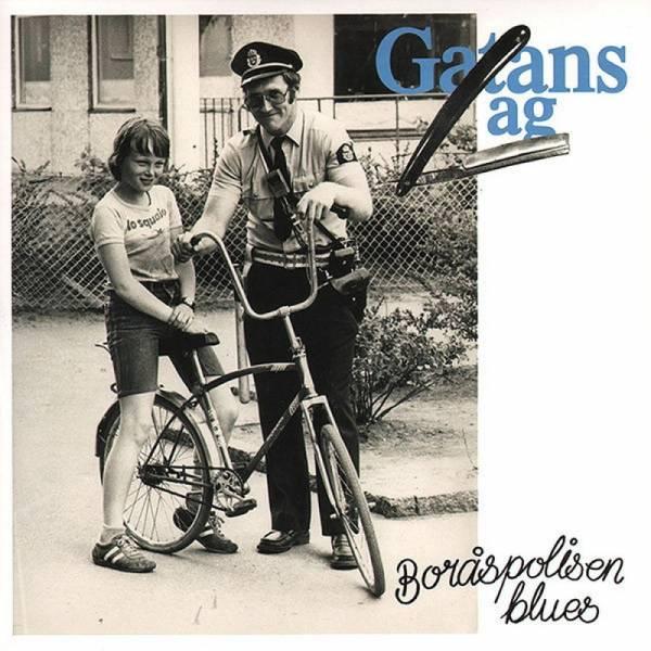 Gatans Lag - Boråspolisen Blues, 7'' clear/blau splatter 2. Pressung