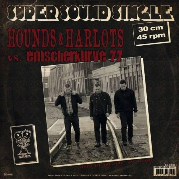 Emscherkurve 77 / Hounds & Harlots - Dto., LP lim. 300 schwarz