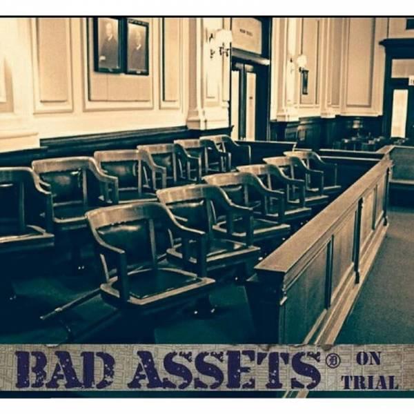 Bad Assets - On Trial, LP lim. 200 weiß/blau BESCHÄDIGT