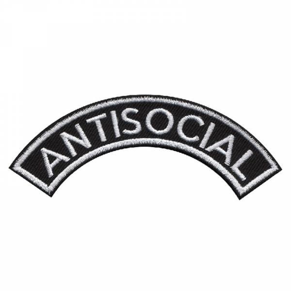Antisocial gebogen, Aufnäher
