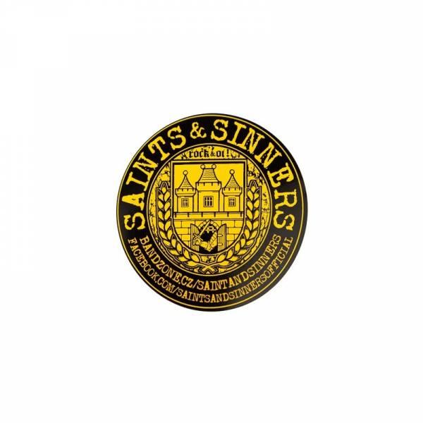 Saints & Sinners - Wappen, Aufkleber rund