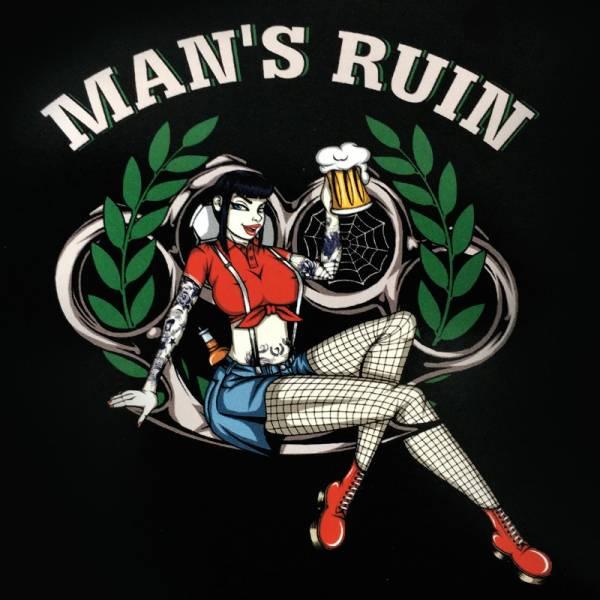 Man's Ruin, Aufkleber
