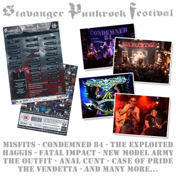 V/A Stavanger Festival, DVD Misfits, Condemned 84, Exploited, Haggis, The Outfit