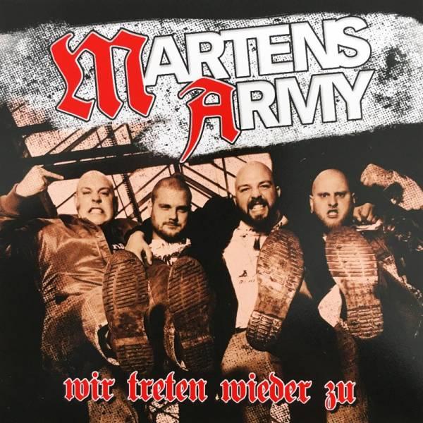 Martens Army - Wir treten wieder zu, Aufkleber eckig