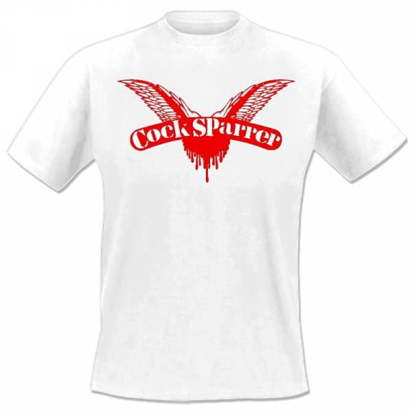 Cock Sparrer - Logo, T-Shirt weiss