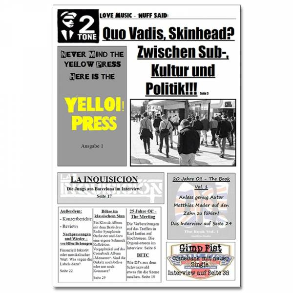 YellOi! Press No.1, Fanzine A4 hoch