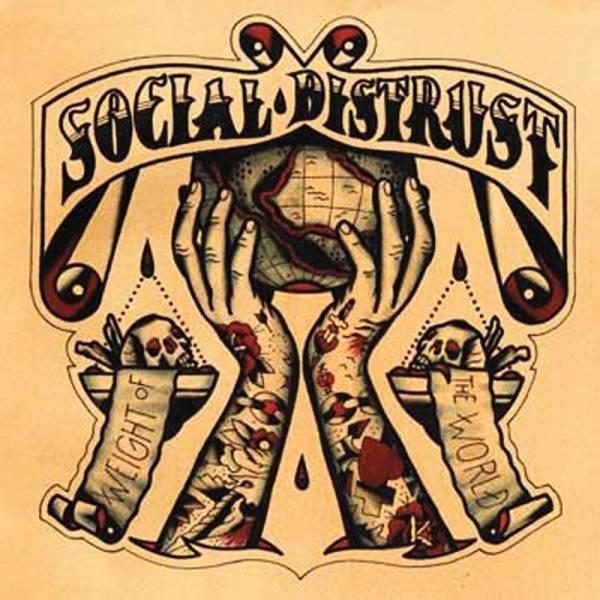Social Distrust - Weight of the world, LP lim. 200 red yellow splatter