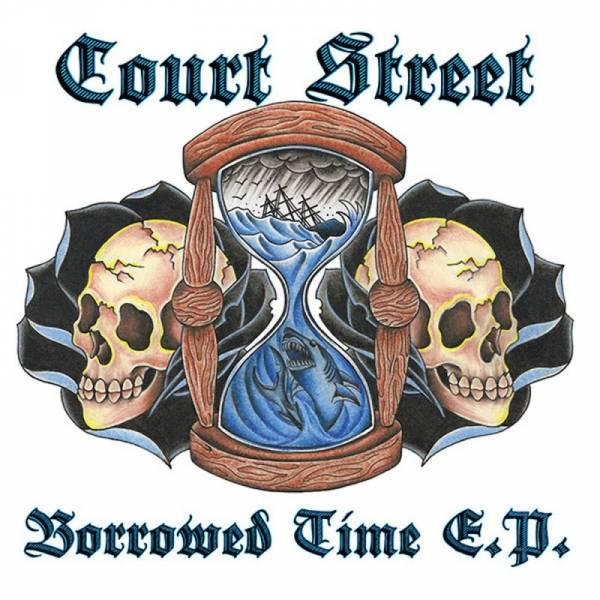Court Street - Borrowed Time, 7'' lim. 225 blau/schwarz splatter