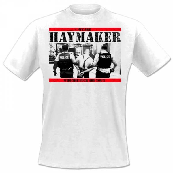 Haymaker - Cops, T-Shirt weiss