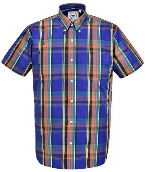RELCO Clothing - Button Down Kurzärmel-Shirt CK36, verschiedene Größen