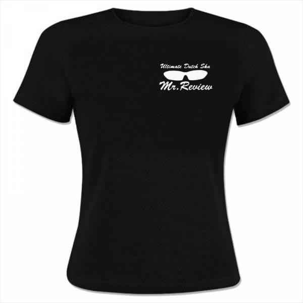 Mr. Review - Logo, Girlie Shirt schwarz