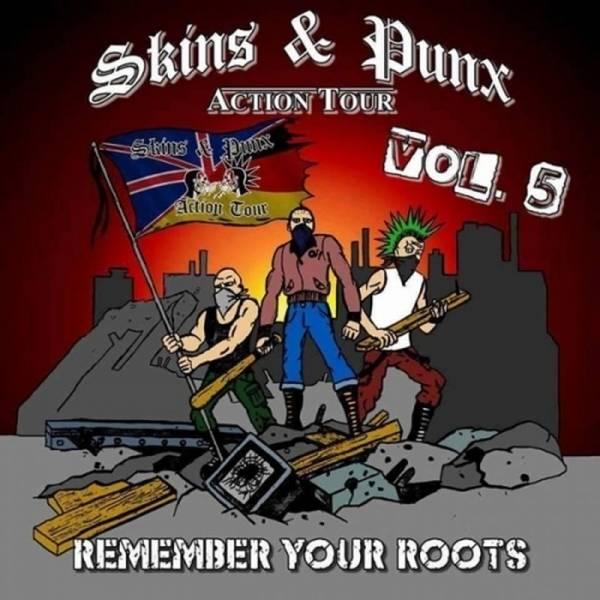 V/A Skins & Punx Action Tour Vol. 5 - Remember your Roots, CD Kartonstecktasche