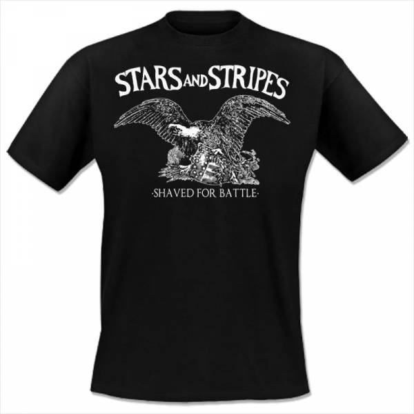 Stars And Stripes - Shaved for battle, T-Shirt