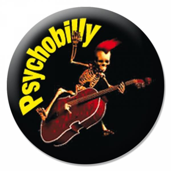 Psychobilly - Kontrabass, Button B091