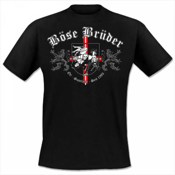Böse Brüder - Wappen, T-shirt schwarz OTS Exklusiv lim. 50