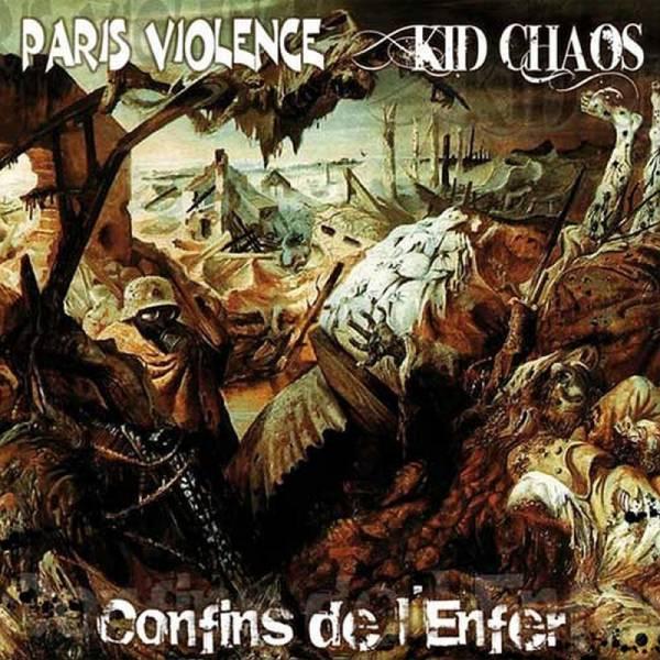 Paris Violence / Kid Chaos - Confins De L'enfer, 7'' lim. 500 verschiedene Farben
