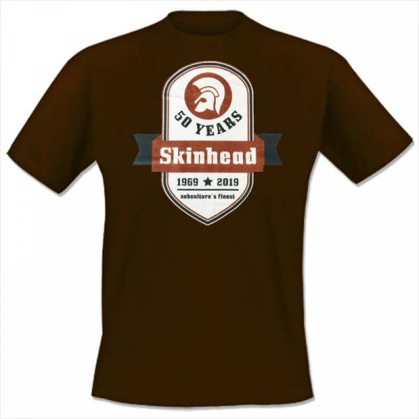 Skinhead - 50 years, T-Shirt braun