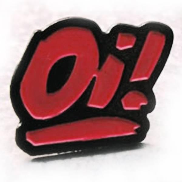 Oi! - schwarz/rot, Pin