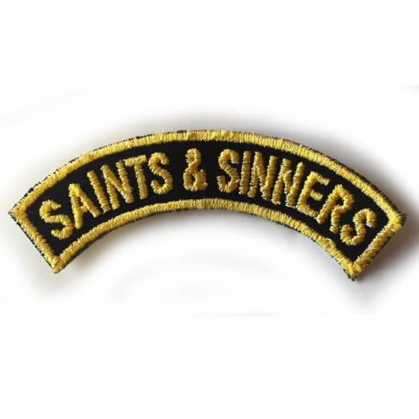 Saints & Sinners - gebogen, Aufnäher