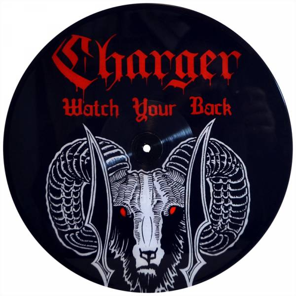 """Charger - Watch your back, 12"""" UV Druck"""