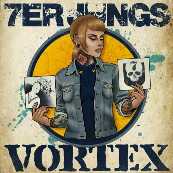 7er Jungs / Vortex - Skingirl, Poster 60 x 60 gefaltet