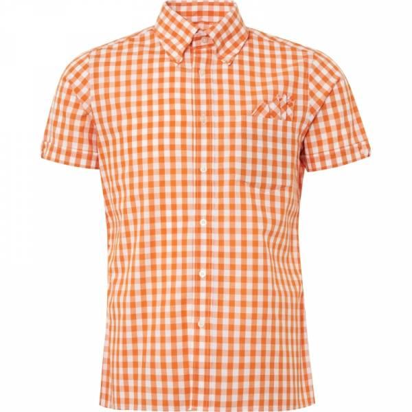 Brutus - Orange Check, Button Down Hemd Kurzarm, Trim-Fit
