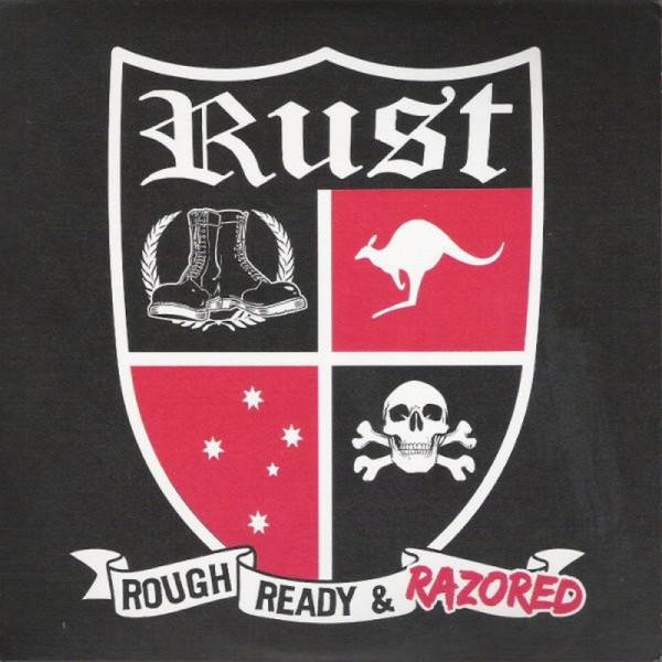 Rust - Rough, Ready & Razored, 7'' rot/ schwarz/ weiss splatter