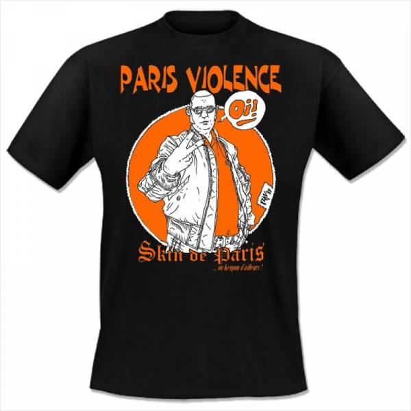 Paris Violence - Skin de Paris, T-shirt schwarz