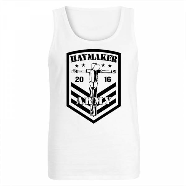 Haymaker - Army, Unterhemd weiss