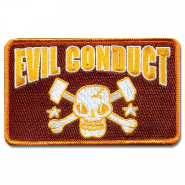 Evil Conduct - Skull Orange, Aufnäher