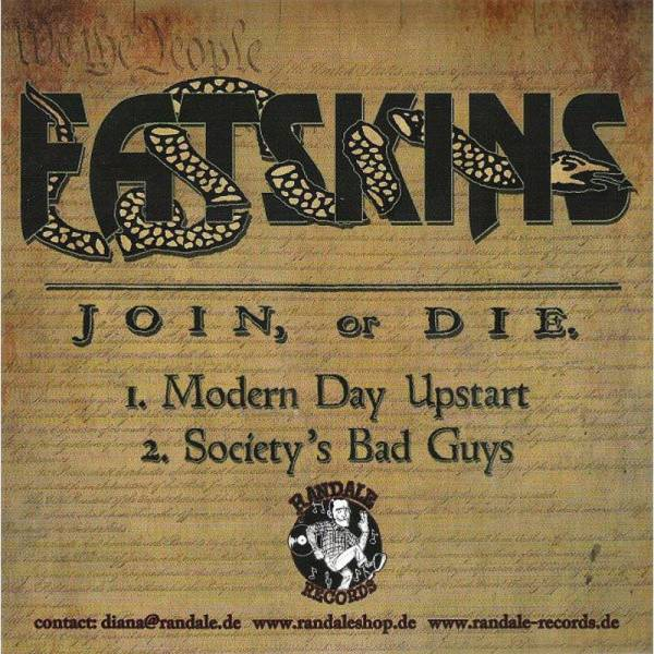 Fatskins / Butchers, The - Join, or Die, 7'' lim. verschiedene Farben