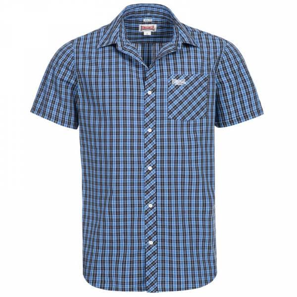 Lonsdale - Brixworth blau, Button Down Hemd, Slim Fit