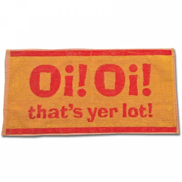 Oi! Oi! - That's yer lot!, Bartuch / Beertowel