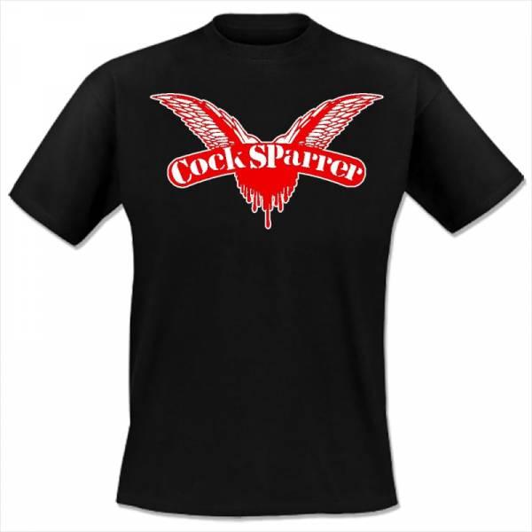 Cock Sparrer - Logo, T-Shirt schwarz