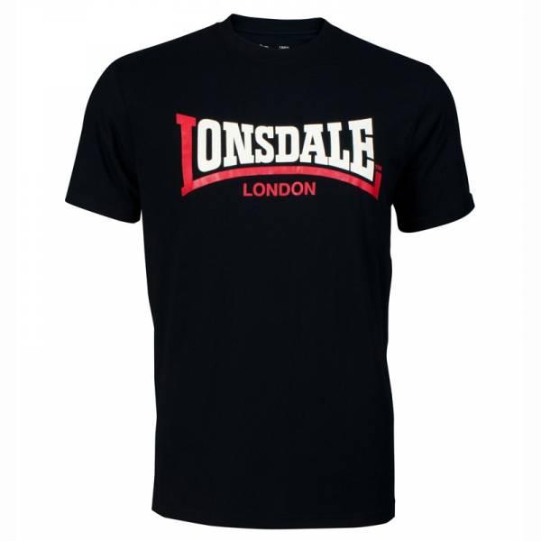 "Lonsdale - Logo, T-Shirt schwarz Regular-Fit ""Two Tone"""