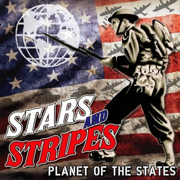 Stars And Stripes - Planet of the States, LP rot marmoriert ERSTPRESSUNG BESCHÄDIGT