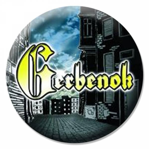 Gerbenok - Schriftzug, Button B055