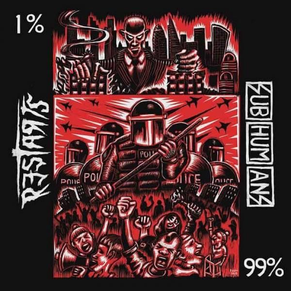 Subhumans / Restarts, The - 99% / 1%, 7'' lim. 2000 weiß