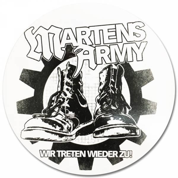 Martens Army - Boots, Aufkleber rund