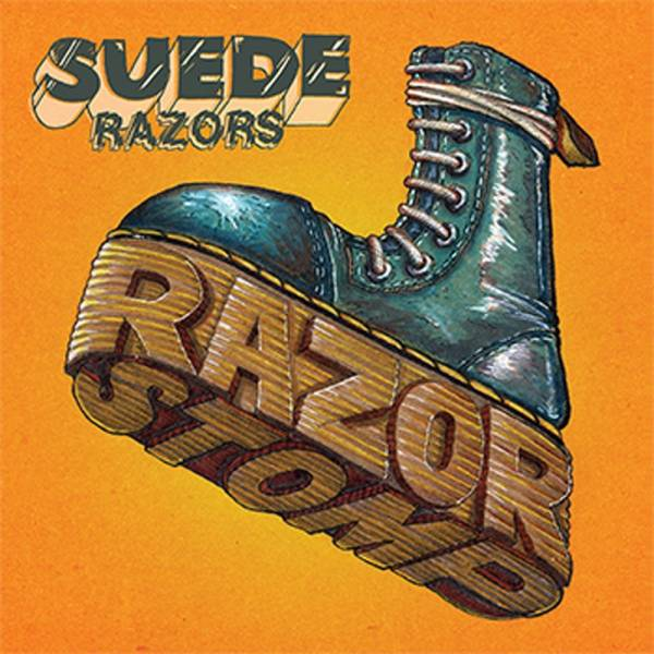 "Suede Razors - Razor Stomp, 12"" lim. 450 gelb splattered"