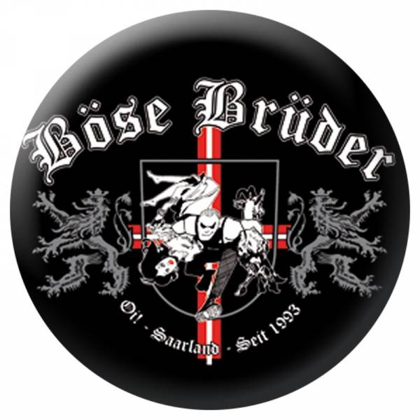 Böse Brüder - Logo, Button B024