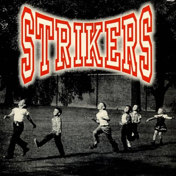 Strikers - Four track, 7'' lim. schwarz Vulture Rock beschädigt