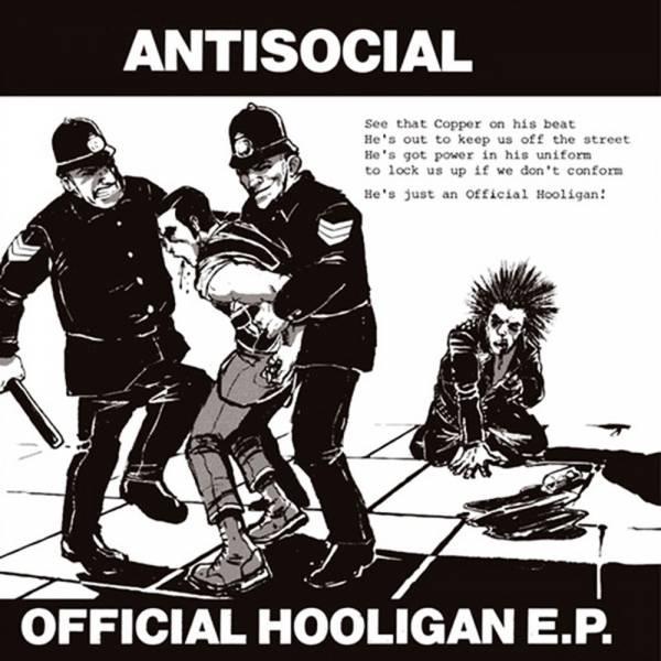 "Antisocial - Official hooligan, 7"" lim. 300 schwarz"