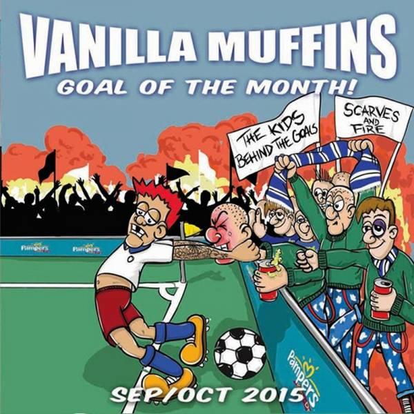 """Vanilla Muffins - Goal of the month 09/10 2015, 7"""" lim. 500 verschiedene Farben"""