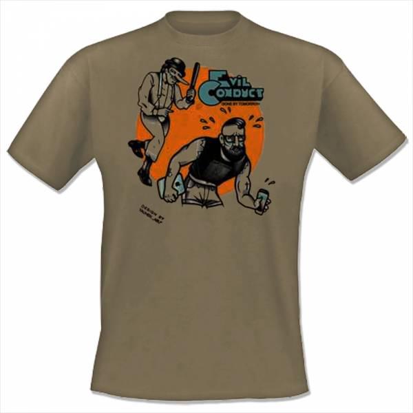 Evil Conduct - Gone by tomorrow, T-Shirt khaki