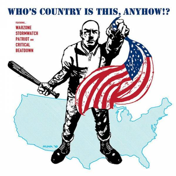 V/A Who's Country Is This, Anyhow!?, 12'' lim. 150 silber/blau splatter BESCHÄDIGT